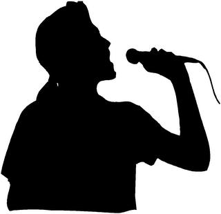 Karaoke Singer Sillhouette
